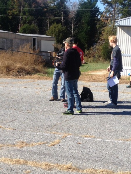 DANIEL AND CREW GETTING READY TO SHOOT
